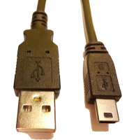 USB-Kabel med mini USB kontakt