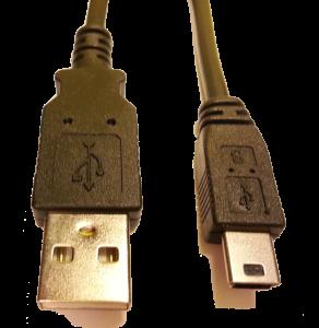 USB-Kabel med mini USB kontakt