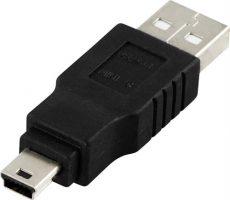 Adapter mellan dator (USB-A) och ActiveGPS/Bobrik (USB Mini B)